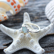 Sea Candy Ring: Leaflet Opal Flower