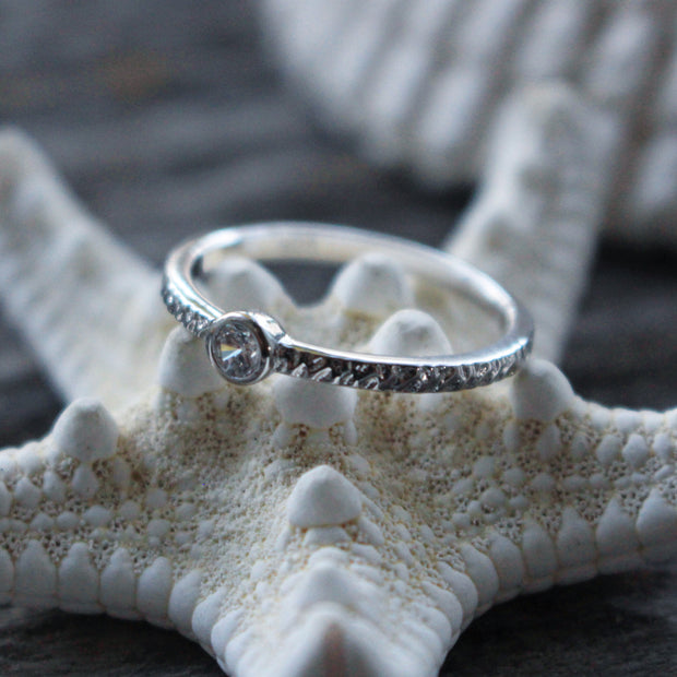 Sea Candy Ring: White Gem Sterling Silver