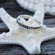 Sea Candy Ring: Dainty Dotted Sterling Silver