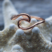 Sea Candy Ring: Simple Wave Rose Gold