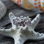 Sea Candy Ring: Pink Gemstone Sterling Silver