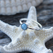 Sea Candy Ring: Larimar Sterling Silver