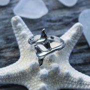 Sea Candy Ring: Whale Tail Sterling Silver