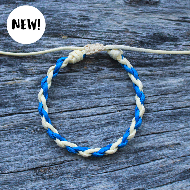 "Sea Candy Bracelet: ""Bohemian Braided Shoreline"""