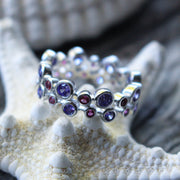 Sea Candy Ring: Lavender Love Sterling Silver