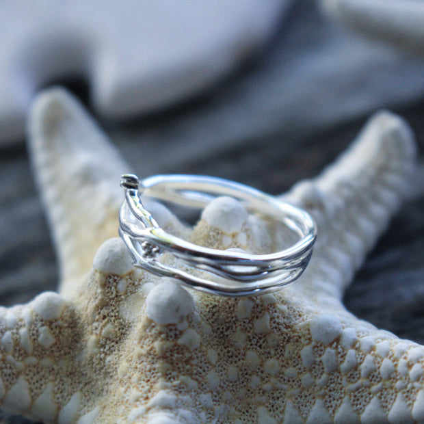 Sea Candy Ring: Beach Driftwood Sterling Silver