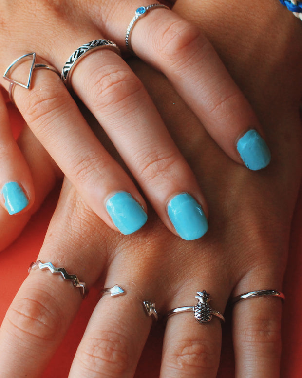 Sea Candy Ring: Zig Zag Sterling Silver