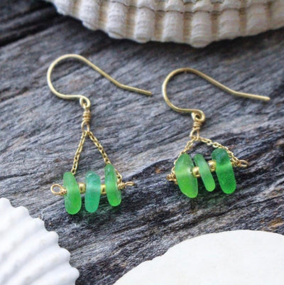 Limited Edition Sea Candy Earrings: Green