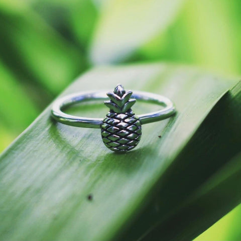 Sea Candy Ring: Pineapple Sterling Silver