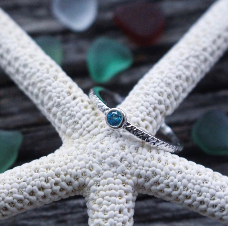 Sea Candy Ring: Blue Gem Sterling Silver