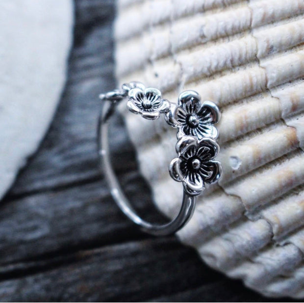 Sea Candy Ring: Flower Sterling Silver