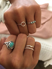 Sea Candy Ring: Dainty Open Circle