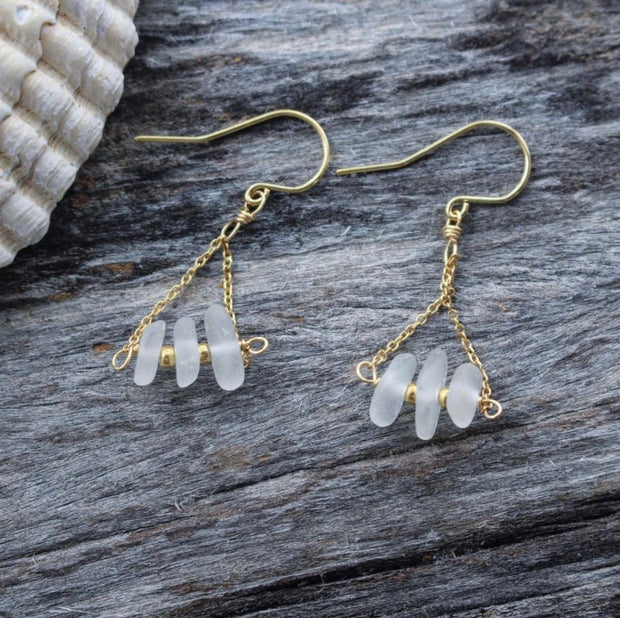 Limited Edition Sea Candy Earrings: White