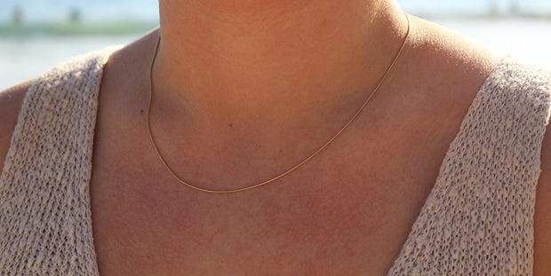 Simple Surfer Necklace: 14k Gold Fill