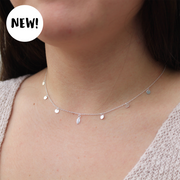 Beach Tribe Choker Necklace: Sterling Silver
