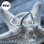 Sea Candy Ring: Dainty Open Oval