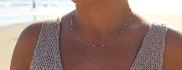 Simple Surfer Necklace: Sterling Silver
