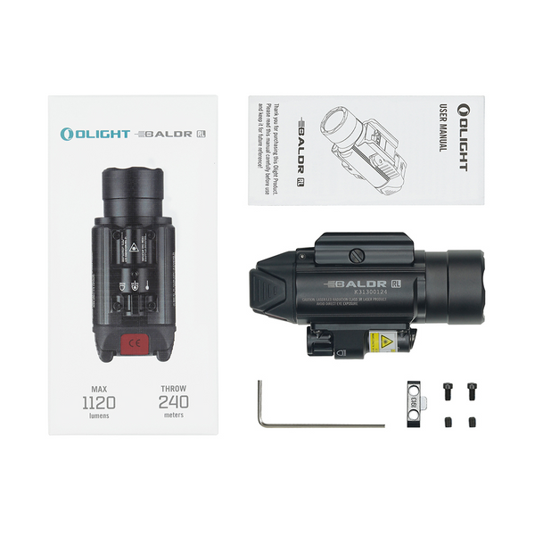 LAMPE/LASER TACTIQUE Olight BALDR RL Laser rouge