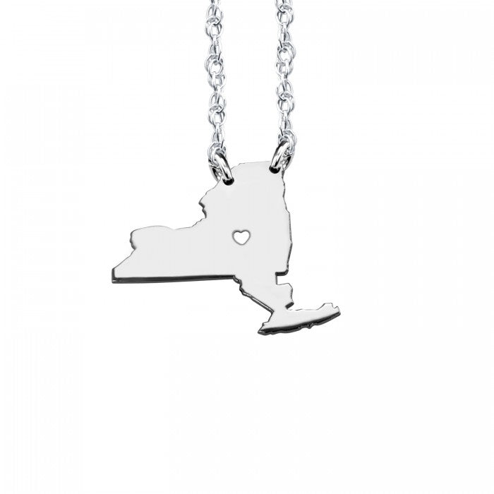 My State Has My Heart Necklace (13 mm) - Wanderlust 195