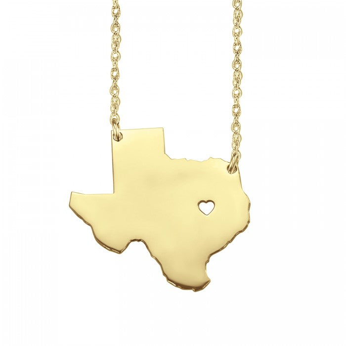 My State Has My Heart Necklace (26 mm) - Wanderlust 195