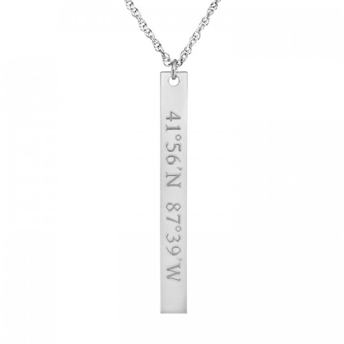 Vertical Coordinate Bar Necklace - Wanderlust 195
