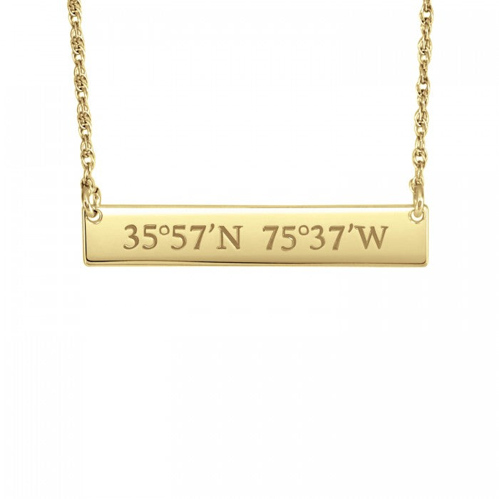 Horizontal Bar Necklace - Wanderlust 195