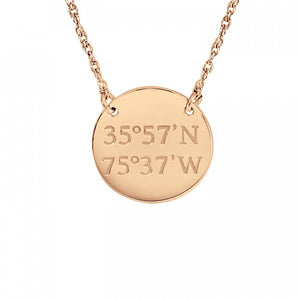 Coordinate Pendant Necklace - Wanderlust 195
