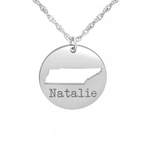 """Cut It Out"" State Necklace - Wanderlust 195"