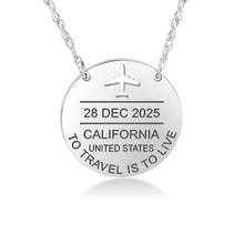 Adventure Awaits Passport Stamp Necklace - Wanderlust 195