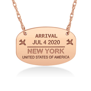 Endless Travels Passport Stamp Necklace - Wanderlust 195
