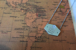 First Class Passport Stamp Necklace - Wanderlust 195