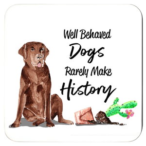 Well Behaved Dogs Coaster Set