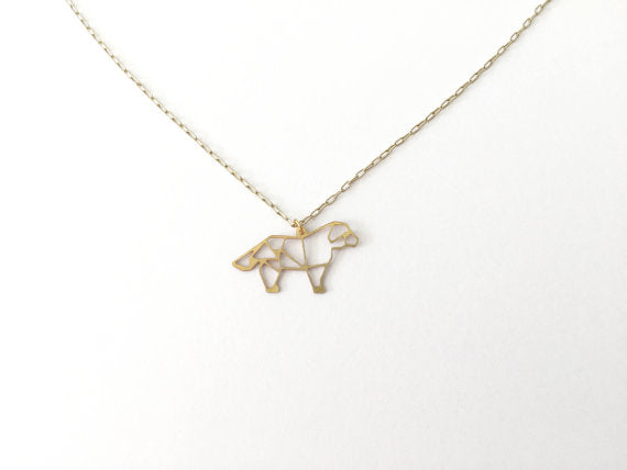 Dog Geometric Necklace