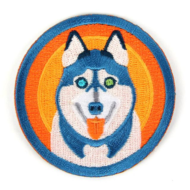 Retro Husky Patch