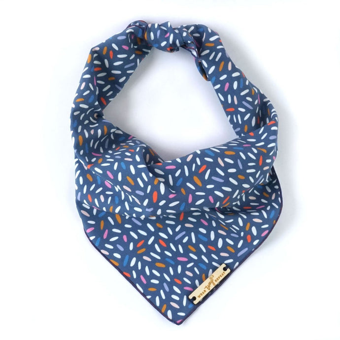 Birthday Sprinkles Navy Dog Bandana