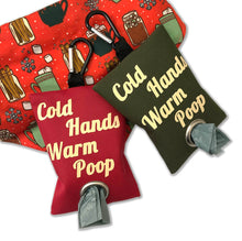 Red Cold Hands Warm Poop Leash Bag