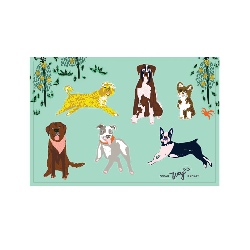 Jungle Dog Sticker Sheet