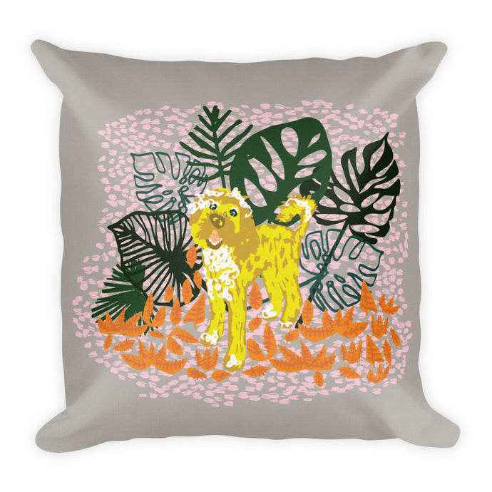 Monstera Doodle Pillow