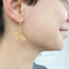 Dog silhouette earrings handmade