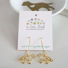 Geometric Dog Brass Earrings Labrador