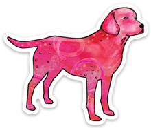 Pink labrador sticker dog mom