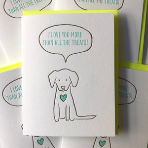 I Love You Letterpress Card