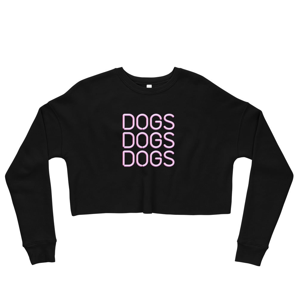 Neon Dogs Crop Sweatshirt Dog Mom Shirt
