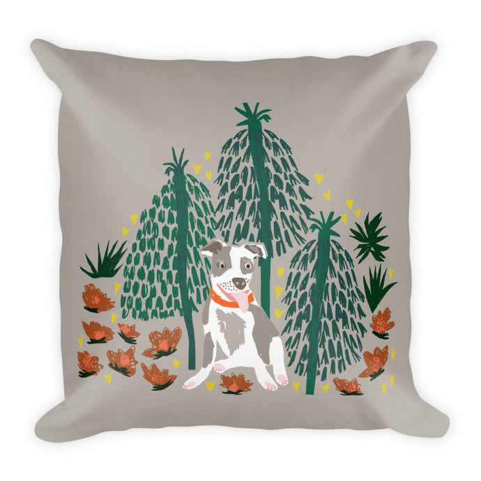 Pit Bull Rainforest Pillow