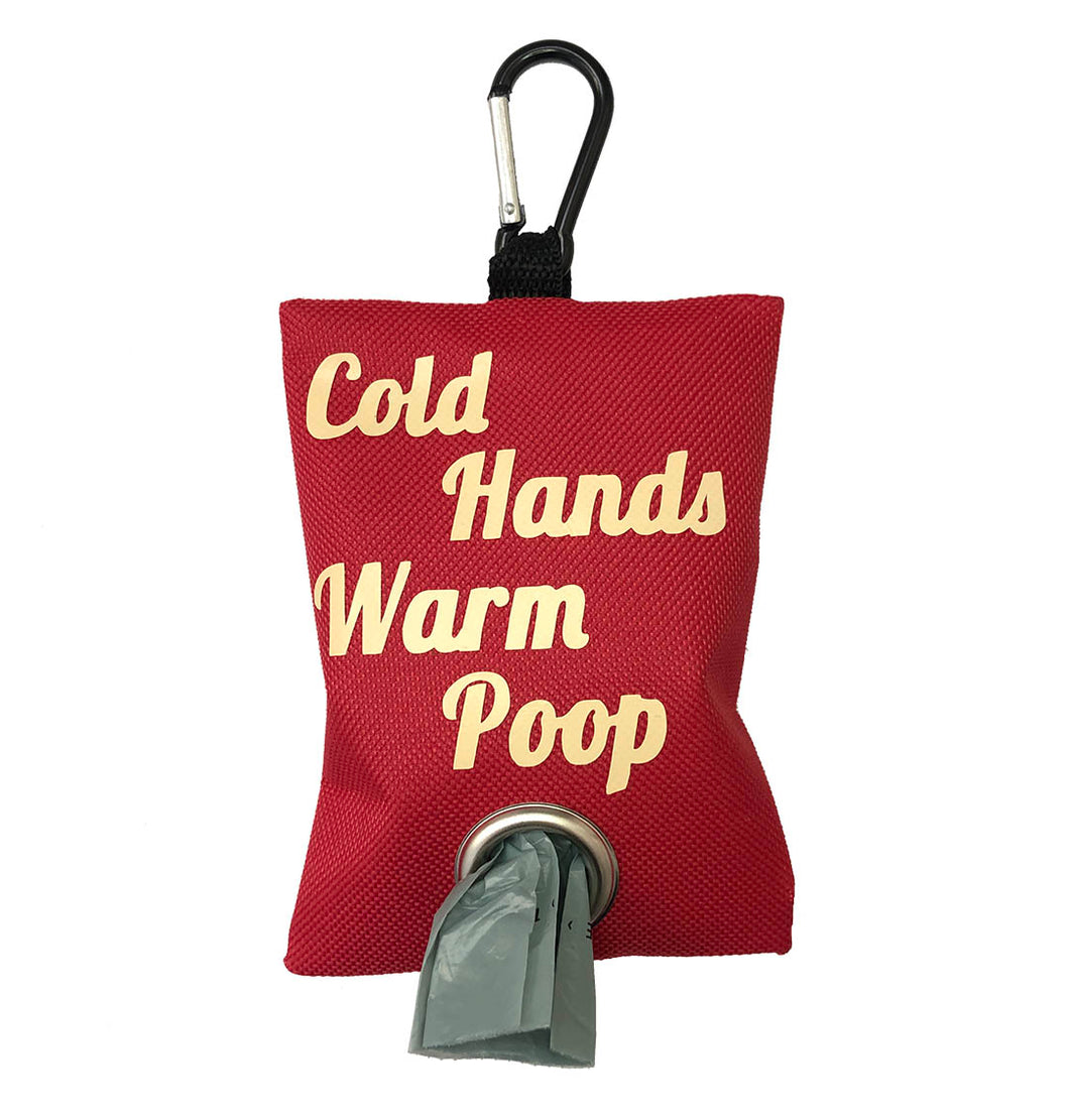 Cold Hands Warm Poop Leash Bag