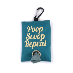 Poop scoop repeat dog waste bag holder