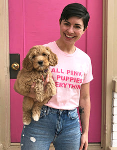 All Pink & Puppies Everything Shirt Pink Lovers Shop Collaboration