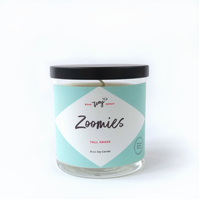 Zoomies Tall Grass Scented Candle for Dog Lovers