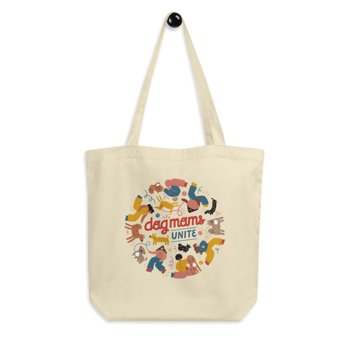 dog mom tote bag organic cotton pet food bank