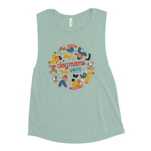 dog mom muscle tank charity